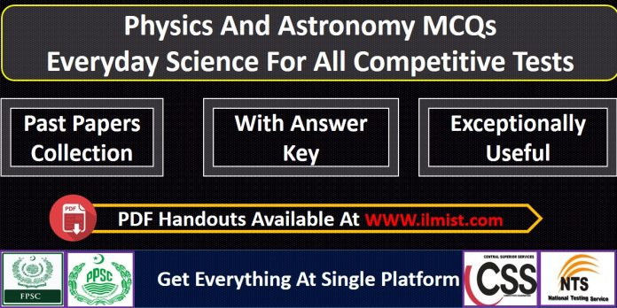 Physics And Astronomy MCQs