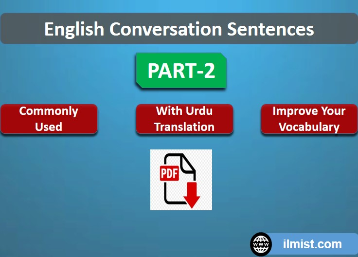 English To Urdu Sentences For Conversations With PDf Part-2