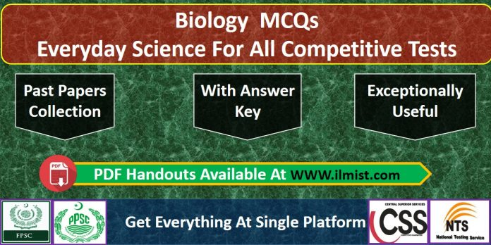 Everyday Science MCQs Biology