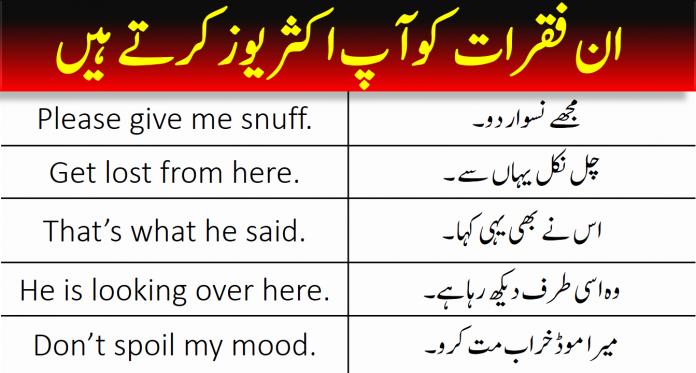 Common English To Urdu Sentences 100+   PDF