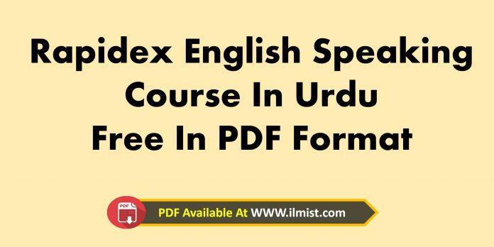 Rapidex English Speaking Course In Urdu