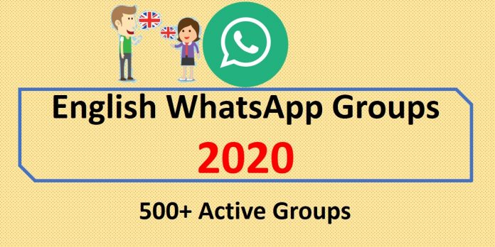 English WhatsApp Groups 2020