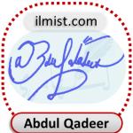 Abdul Qadeer Signatures