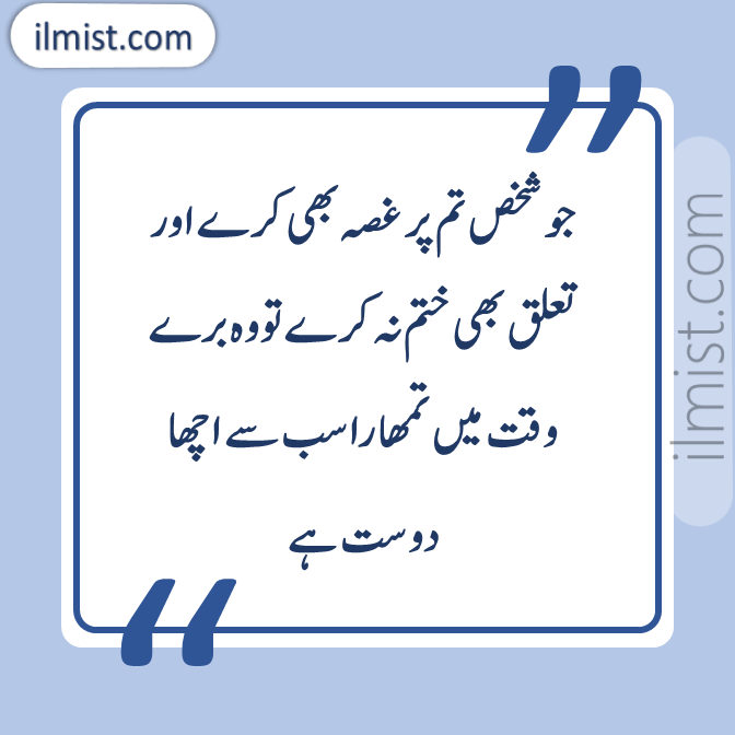 Friendship Quotes in Urdu Shayari