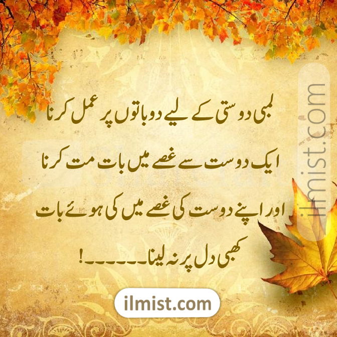 Friends Thoughts in Urdu, Friendship Poetry in Urdu 2020