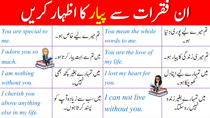 20 English Phrases to Express LOVE with Urdu Translation