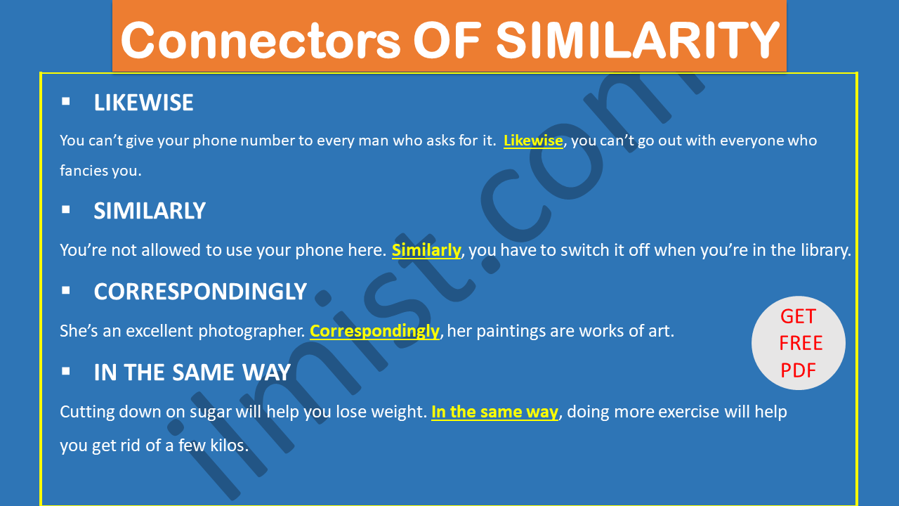 Connectors OF SIMILARITY