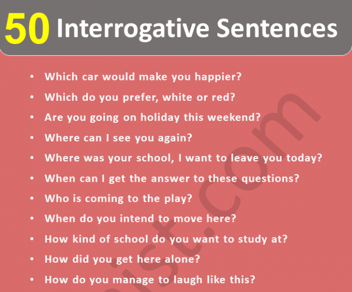 Interrogative Sentences With 50+ Examples
